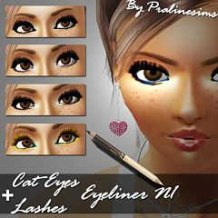 Sims 3 eyeliner, lashes, makeup