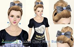 Sims 3 accessories, bow, hair, bands