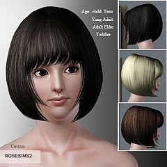 Sims 3 genetics, hair, short