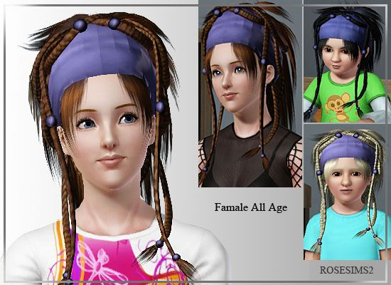 Sims 3 hair, hairstyle, genetics