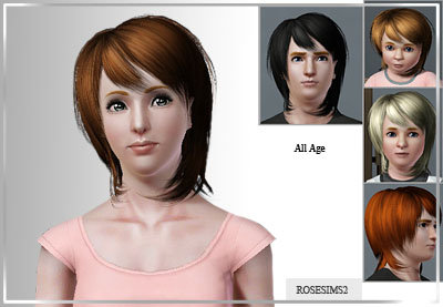 Sims 3 genetics, hair, short , hairstyle