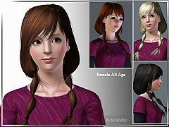 Sims 3 genetics, hairstyle, long