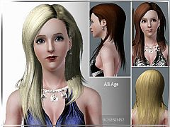 Sims 3 long, hairstyle