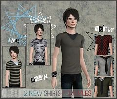 Sims 3 cloth, clothes, top, shirts, males, fashion