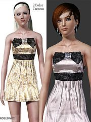 Sims 3 satin, dress, formal, everyday