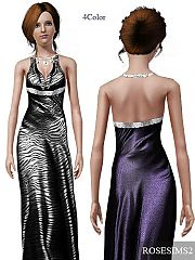 Sims 3 dress, formal, necklace