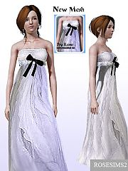 Sims 3 formal, dress, free, ribbon, bow