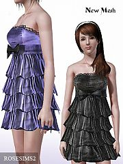 Sims 3 dress, formal, mesh, everyday, bow