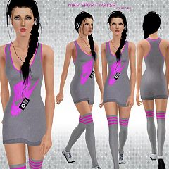Sims 3 dress, sport, athletic, clothing