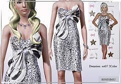 Sims 3 dress, formal, clothing, necklace, diamonds