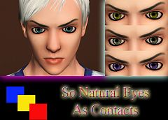 Sims 3 contacts, eyes, makeup
