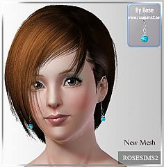 Sims 3 earrings, jewelry, accessories, female, necklace