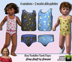 Sims 3 clothing, pants, tank top, toddler