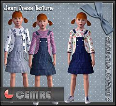 Sims 3 jean, denim, dress, jumper, girl
