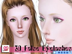 Sims 3 lashes, eyeslashes, genetics, hair