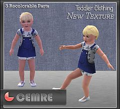 Sims 3 denim, jeans, jumper, toddler, dress