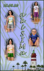 Sims 3 t-shirt, clothing, fashion, girls
