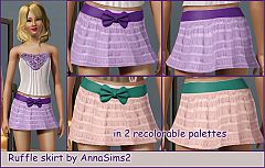 Sims 3 ruffle, skirt, belt, bow