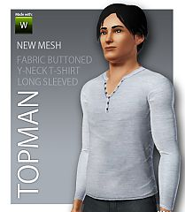 Sims 3 t-shirt, jumper, men, sleeves