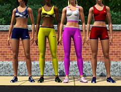 Sims 3 athletic, female, fashion, shoes, sport