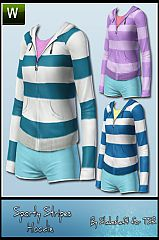 Sims 3 sporty, stripes, hoodie