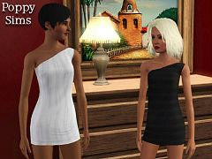 Sims 3 dress, fashion, female