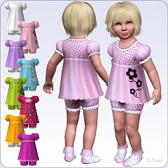 Sims 3 outfit, ruffles, fashion, children