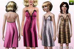 Sims 3 chemise, satin, lace, fashion, sleepwear