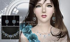 Sims 3 jewelry, diamonds, accessories, female, earrrings, necklace