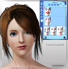 Sims 3 lips, lipstick, gloss, makeup, female
