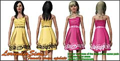 Sims 3 Pleated, cocktail, dress