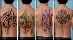 Sims 3 tatoo, accessories