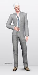 Sims 3 cloth, bottom, fashion, pants, male, outfit, suit