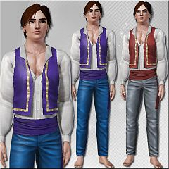 Sims 3 outfit, cloth, clothes, fashion, man, gipsy