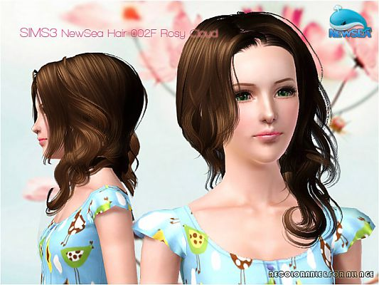 Sims 3 hairstyle, genetics, hair, female, male