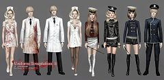 Sims 3 uniform, accessories, clothing