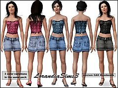 Sims 3 Denim, skirt