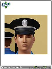Sims 3 cloth, hat, police