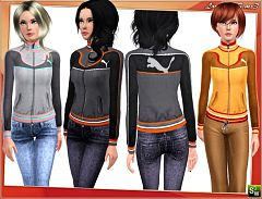 Sims 3 puma, top, jacket, cloth, sport, athletic