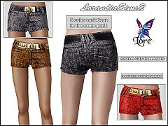 Sims 3 Belted, short, pants