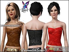 Sims 3 Fitted, corset, tank