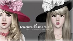 Sims 3 hat, accessories, female, fashion