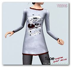Sims 3 dress, fashion, clothing, sleepwear, teen