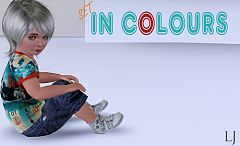 Sims 3 clothing, jeans, denim, toddler, kids, t-shirt