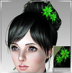 Sims 3 accessory, hair, flowers, fashion