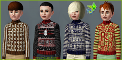 Sims 3 top, kinitted, children, fashion, clothing