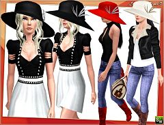 Sims 3 hat, fashion, accessories, stylish, female