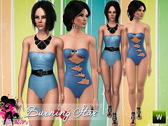 Sims 3 swim, swimwear, fashioon, clothing, female