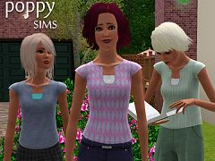 Sims 3 clothing, fashion, top, female