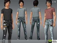 Sims 3 cloth, bottom, top, fashion, teen